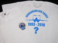 MiG-29 - DongĂł Squadron 1993-2010? (Fruit of the Loom) T-shirt