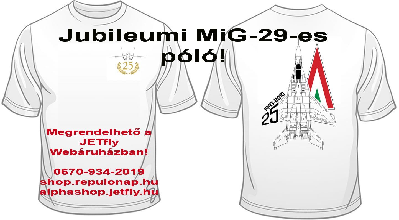 25. jubileumi MiG-29 póló - környakú